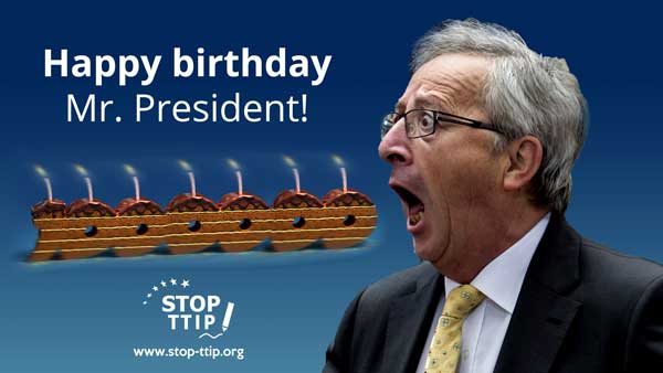 Here you would see a funny picture of President Juncker