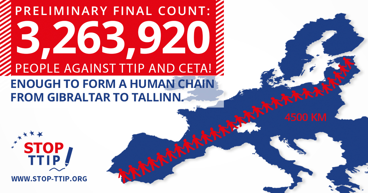 Stop TTIP ECI closes with a record number of 3,263,920 signatures