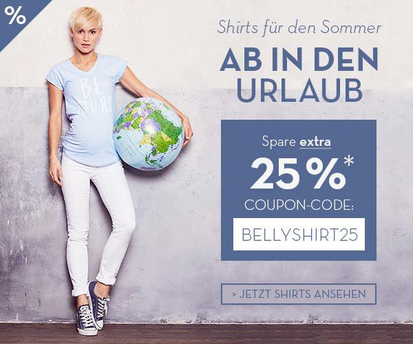 Shirt-Sale bei bellybutton.de - 25% Extra-Rabatt