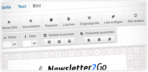 E-Mail-Newsletter Editor