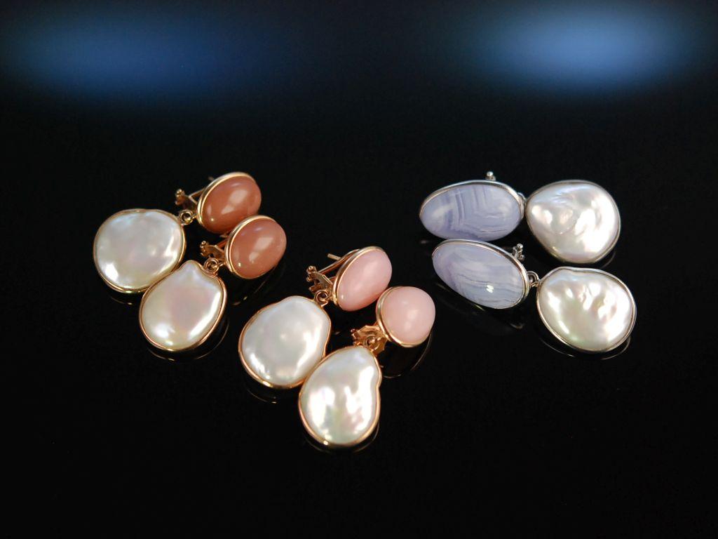 Perlen Farbstein Ohrringe Pastell